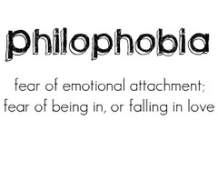Fear of being in love phobia